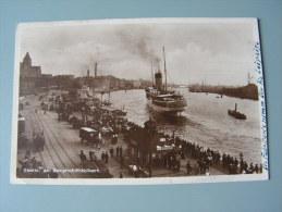 Polen , Hafen Stettin Schiffe Am Dampfschiffsbollwerk  Foto 1931 - Polen