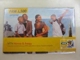 Prepaid Recharge Phonecard,used - Rwanda