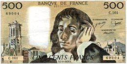- BILLET De 500 F. PASCAL - D 7-6-1979 D -   502 - 1962-1997 ''Francs''