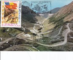 Ceausescu Era - Transfagarasan Road Construction - Maximum Cards & Covers