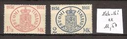 Finlande 164-65 ** Côte 11.50 € - Finnland