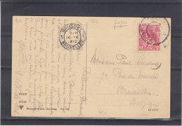 Perforés - Pays Bas - Carte Postale De 1912 - Lettres & Documents