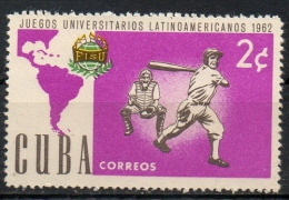 1962 - Baseball Giochi Universitari, University Games MNH ** - Cuba
