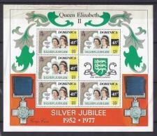 FAMILIAS REALES - DOMINICA 1977 - Yvert #514 (Minipliego) - MNH ** - Familias Reales