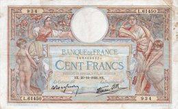 - BILLET De 100 F. LUC OLIVIER MERSON  - SX. 20-10-1938. SX  -   522 - 1871-1952 Antiguos Francos Circulantes En El XX Siglo