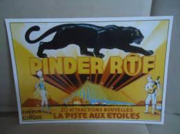 Carte Postale Cirque Pinder Panthere Noire - Zirkus