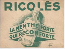 Ricolés, La Menthe Forte Qui Réconforte - Cartes De Visite