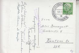 ESPERANTO - Sonderstempel - Esperanto Kongress Mainz 1958, In Die DDR Gelaufen , Knick - Esperanto