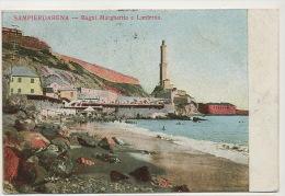Sampierdarena Bagni Margherita E Lanterna Phare Lighthouse Timbrée 1912 - Otras Ciudades