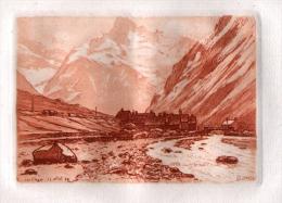 ESTAMPE: SIGNEE JJY LREVES ( ORTHOGRAPHE A VERIFIER ) - 25 AVRIL 1929 - LE VILLAGE DES ETAGES (ISERE) - Prints