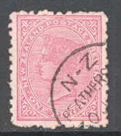 NEW Zealand, A Class Postmark FEATHERTON On Qvictoria Stamp - 1855-1907 Colonie Britannique