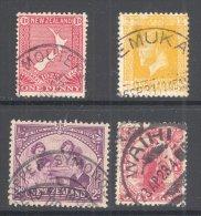 NEW ZEALAND, Postmarks UPPER MOUTERE, TEMUKA, UPPER SYMONDS, WAIHI - 1855-1907 Kolonie Van De Kroon