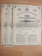 HONGRIE - 3 EXEMPLAIRES - SOCIETE DE CREDIT FONCIER DU ROYAUME DE HONGRIE A BUDAPEST - OBLIGATION COMMUNALE 3 1/2 % - Shareholdings