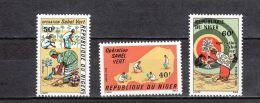 Niger YT 373/5 ** : Opération Sahel Vert , Arbre - 1976 - Niger (1960-...)