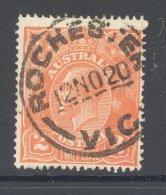 VICTORIA, Postmark ´ROCHESTER´ On George V Stamp - 1850-1912 Victoria
