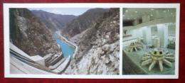 Toktogul Hydro-Electric Power Station - Turbine Room - 1984 - Kyrgystan USSR - Unused - Kirghizistan