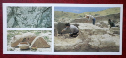 Ancient Cliff Drawings - Objects Found During Excavations Of The Krasnorechensk Site - 1984 - Kyrgystan USSR - Unused - Kirghizistan