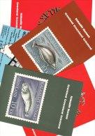 Set 5 Postcards GREENLAND Stamps Kalaallit Nunaat Post Office - Greenland