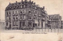 La Panne. -  L´ Hôtel Terlinck Et La Digue 1903 - Zeer Mooie Kaart Naar Deynze - De Panne