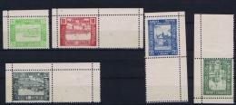 Poland: 1918 Lumboml Fi 1-5 A Inverted Corner Values, In Corner Pieces MH/* RRR Cat Value 250 Euro ++