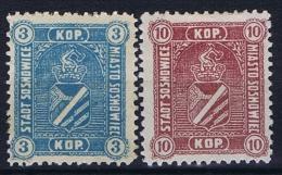 Poland: Sosnowiec / Sosnowice, 1916 Fi 1+2, Signed, MH/* - ....-1919 Provisional Government