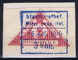 Poland: Sosnowiec / Sosnowice, 1916 Fi 5 , Used - ....-1919 Provisional Government