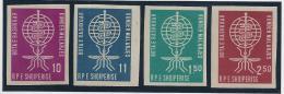ALBANIA 1962 - Yvert #569/72 (sin Dentar) - MLH * - Medicina
