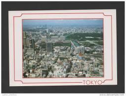 Postcard 1970years TOKYO AKASAKA DISTRICT AERIAL View JAPAN JAPON JAPÃO - Tokio