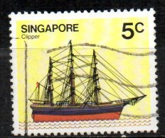 SINGAPORE 1980 Ships. -  5c. - Full-rigged Clipper FU - Singapour (1959-...)