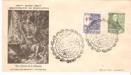 Carta Con Matasello Cervantes 1947 - 1931-Today: 2nd Rep - ... Juan Carlos I