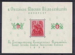 HUNGRIA 1938 - Yvert #H3 - MNH ** - Hojas Bloque