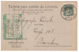 Tarjeta De Pedido De 1933 Bilbao - 1931-50 Cartas