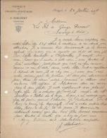 SCIONZIER - 1907 - Fabrique De Pignons Pivotages - J. BALMAT - - Old Professions