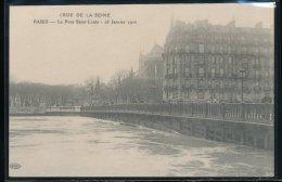 75 --- Paris - Crue De La Seine -- Le Pont Saint - Louis  -- 28 Janvier 1910 - Inondations De 1910