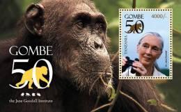 tan1017ss Tanzania 2011 Gombe 50 s/s monkey Dr. Jane Goodall Chimpanzees
