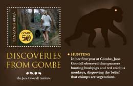 tan1019ss Tanzania 2011 Gombe 50 s/s monkey Dr. Jane Goodall Chimpanzees