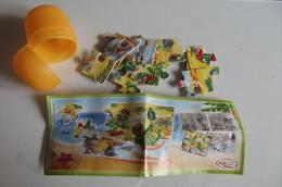 Sor128 Sorpresina Kinder Puzzle Tartallegre, TR185 Settore Basso Sinistra, Robinson Marino, Completo Cartina Ovetto RARO - Puzzles