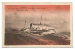 CPA -ABDA -PAQUEBOT POSTE FRANCAIS DE LA COMPAGNIE PAQUET PAR GROSSE MER - Steamers