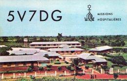 AFAGNAN , Ospedale Missionario , Lome'  , Togo   ,  QSL  , Radioamatori * - Togo