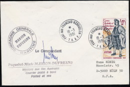 ANTARCTIC,  TAAF, KERGUELEN, 18.3.1981 ,M.DUFRESNE, 2 Cachets+Signature Le Commandant !! - Antarktis-Expeditionen