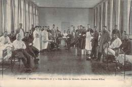 71 - Macon - Hôpital Temporaire N°7, Une Salle De Blessés, Lycée De Jeunes Filles - Macon