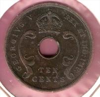 EAST AFRICA 10 CENTS 1935 - Monnaies