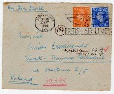 LETTRE - Pour La Pologne - EARLS COURT . S.W.5  (1949) - 1902-1951 (Kings)