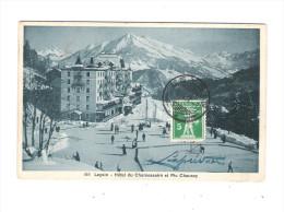 Suisse - Leysin - Patinoire Hockey Sur Glace But - 1911 - Hôtel Du Chamossaire - Pic Chaussy - VD Vaud