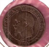 FRANKRIJK 10 CENTIMES 1861B - D. 10 Centimes