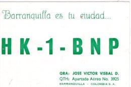 COLOMBIA  ,   BARRANQUILLA ,  QSL  , Radioamatori - Colombia