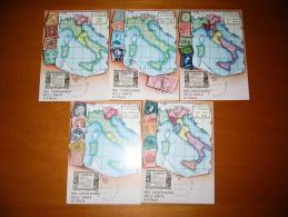 """TEM1374   -  TORINO    """"  CENTENARIO UNITA´ DI´ITALIA """"   /    12.6.1961  - 5 CARDS - Altri"""