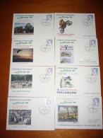 "TEM1376   -   VILLACIDRO     ""  MANIFESTAZ. FILATELICA VILLACIDRO ´99 ""   /    17.4.1999   8 CARDS - Esposizioni Filateliche"