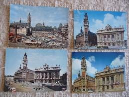 LILLE : Lot De 6 CPA Représentant Des Sites De La Ville De LILLE Dans Les Années 1960/70 - Lille