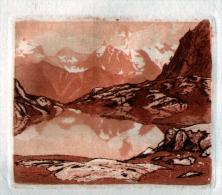 ESTAMPE: JJY LREVES ( Non Signée ) -  05 - HAUTES ALPES  - PAYSAGE DE MONTAGNE - Prints